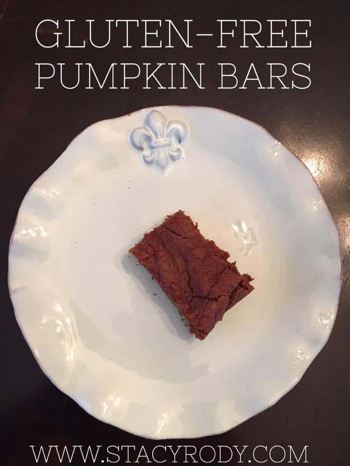gluten-free pumpkin bars, gluten-free recipes