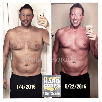 matt rody, transformation tuesday, 22 minute hard corps, getsome, tony horton, functional fitness, fitness, exercise, transformation