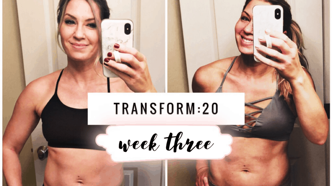 Transform 20 Week 3 Review Weight Loss Transformation Stacy Rody